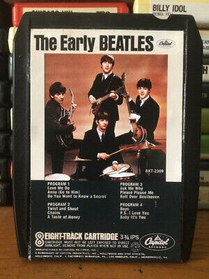 """The Beatles """"Early Beatles"""" Custom Label Stereo 8 Track Tape"""