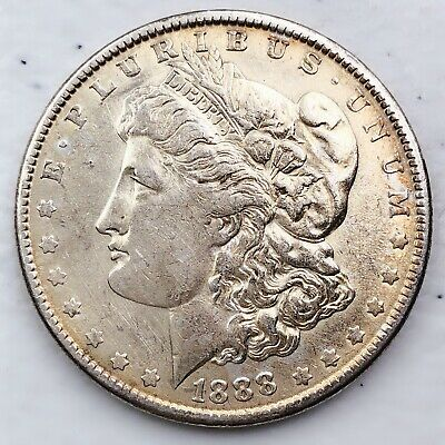 1888 Morgan Silver Dollar 90% Silver $1 Coin Us #A4