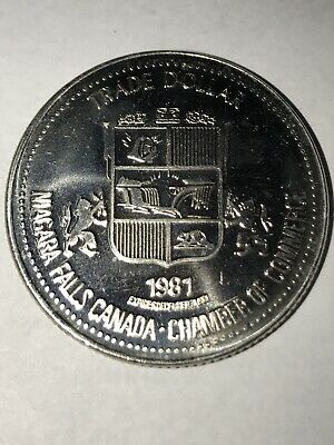 1981 Niagara Falls Chamber of Commerce Trade Dollar - Maid of the Mist