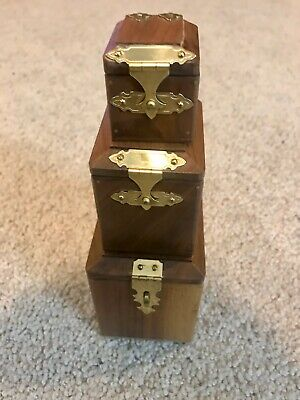 Small Set Of 3 Nesting Boxes (Early Dave Powell)