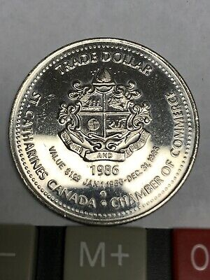 1986 St. Catharines Chamber of Commerce Trade Dollar - Historic Niagara Old Cour