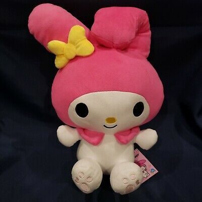 """Large Sanrio Pink My Melody ~14"""" Plush Doll Round 1 NWT"""