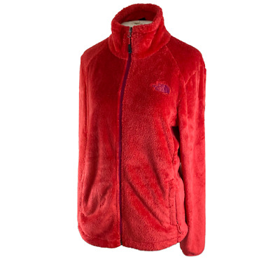 The North Face Women's Fuzzy Osito Fleece Jacket Size (L) Red