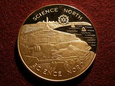 1984 Science North - The Royal Visit Gold Plated Proof Medallion