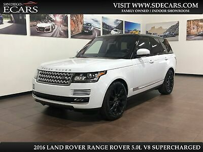 2016 Land Rover Range Rover Supercharged 2016 White Supercharged!
