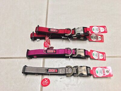 """KONG Padded Comfort Collar w/ ID Tag Holder Size L 18""""-26"""", 7/8"""" wide NWT"""
