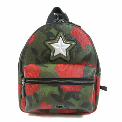 COACH  F25869 Backpack · Daypack Rose star motif Leather