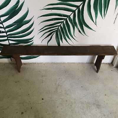 Vintage Antique Farmhouse Wooden Garden or Kitchen Bench Rustic Seating
