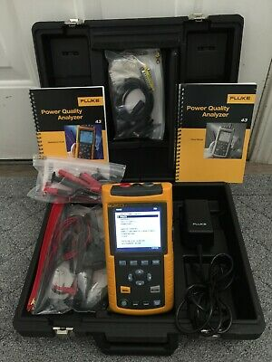 Fluke 43 - Power Quality Analyzer with Case, Accessories, and OEM Power Supply