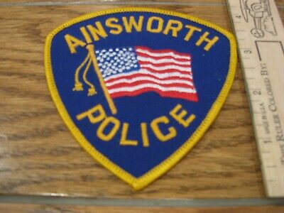 old Ainsworth Nebraska Police patch vintage NE