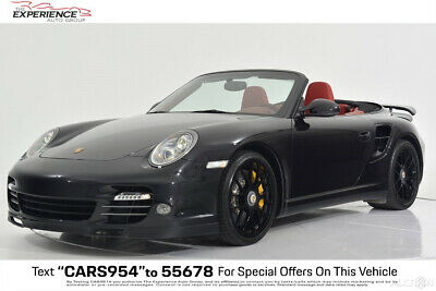 2013 Porsche 911 Turbo S Cabriolet PDK Deviating Color Carpet Clear Taillights Rear ParkAssist Heated Natural Leather