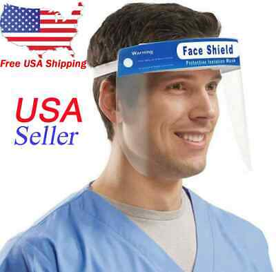 Safety Full Face Shield Clear Protector Work Industry Dental Anti-Fog US Stock