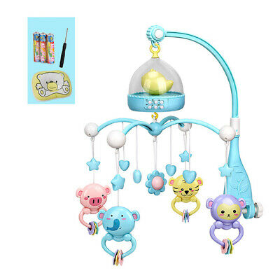 Baby Musical Crib Bed Cot Mobile Stars Dreams Light Nusery Lullaby Toy Rattles