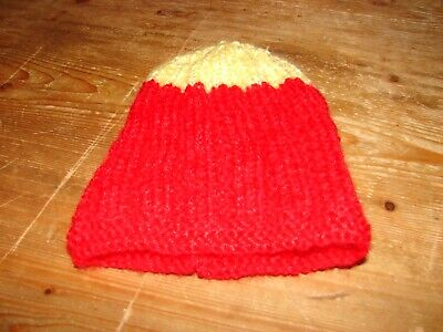 brand new hand knitted Yellow & Red hat Newborn