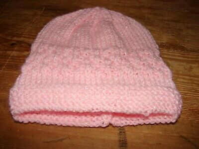 brand new hand knitted pink hat Newborn