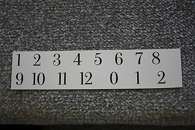 Clock face/dial Art Deco 15mm Arabic numeral number restoration wet transfer