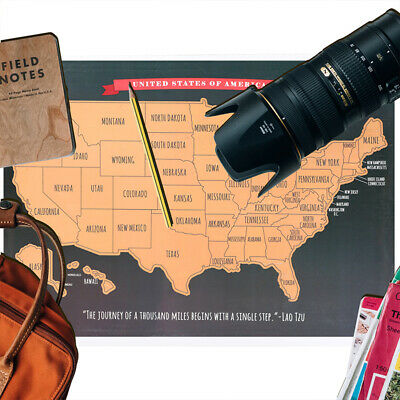 Scratch Off Map of The United States USA Map Kit American Map Travel Adventure