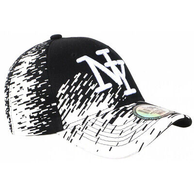 Casquette NY Noire Tags Blancs City Fashion Baseball Noryk
