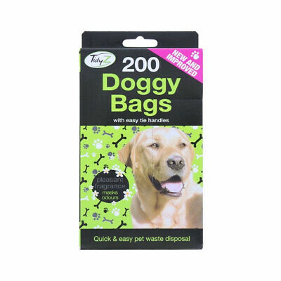 DOGGY BAGS Scented Dog Cat Pet Poo Waste Easy Tie Scooper Poop Disposal (B0066)