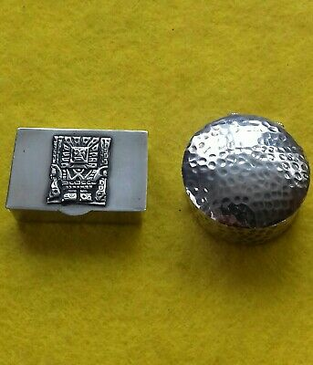 Job Lot x 2 925 Marked Sterling Silver Pill Boxes