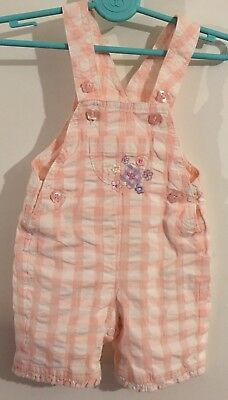 Baby Girls Marks & Spencer Dungaree Shorts Age Up To One Month