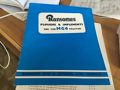 Ransomes Crawler Ransomes MG6  tractor ploughs and implements booklet 15936H