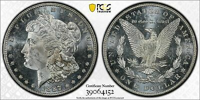 1887 PCGS MS64 PL Morgan Silver Dollar Trueview and Goldshield - See Description
