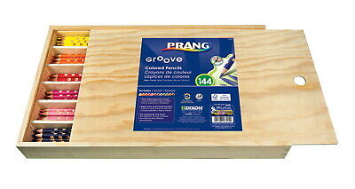 Prang Groove Color Pencils, Assorted Colors, Set of 144