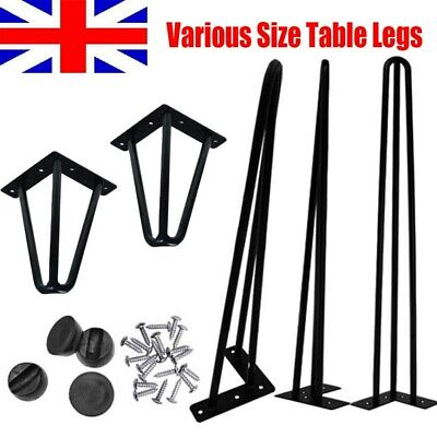 Premium Hairpin Table Legs Set of 4 with FREE Screws & Protector Furniture Feet