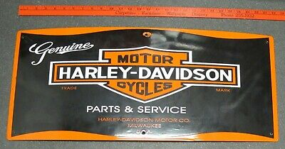 Harley Davidson Motorcycles Bar & Shield Porcelain Sign