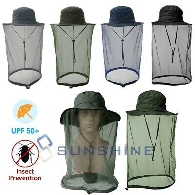 Mosquito Net Hat Head Face Protector Sun Insect Bee Bug Fly Outdoor Mesh Cap