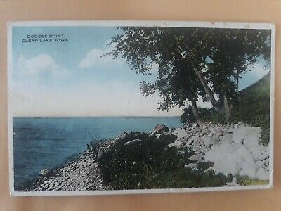 Postcard Dodges Point Clear Lake Iowa USA Postcard