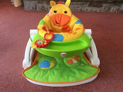 Fisher Price Giraffe Sit Me Up Seat, Removable Tray, Feeding Chair, Bumbo Etc