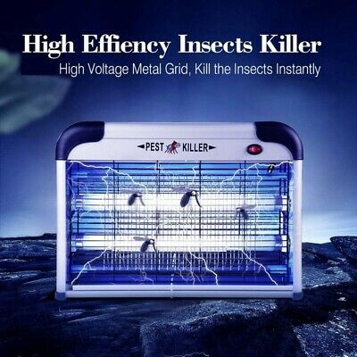 20/30/40W Electric UV LED Light Mosquito Killer Lamp Insect Fly Bug Zapper UK
