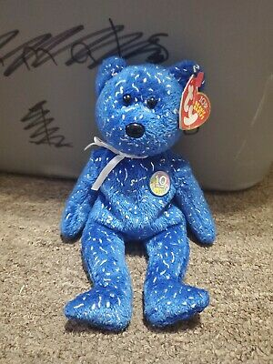 TY Beanie Baby - DECADE the Bear (Royal Blue Version) (8.5 inch)