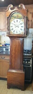 A Satin Birch Georgian Longcase Grandfather Clock for restoration C1820