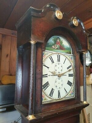 An Oak Antique Longcase Grandfather Clock for full restoration C1840