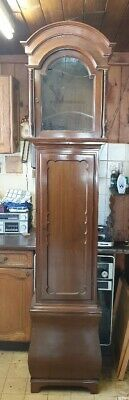 A mahogany Edwardian Longcase Grandfather Musical Clock case only