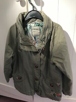 next girls hooded jacket. khaki green age 3-4. Excellent condition
