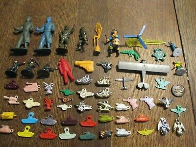 Vintage Cracker Jack Gumball Machine Prizes Military Toys Army Soldiers Plane +