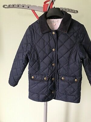 marks and spencer Girls 7-8 Blue Quilted Jacket Lovely