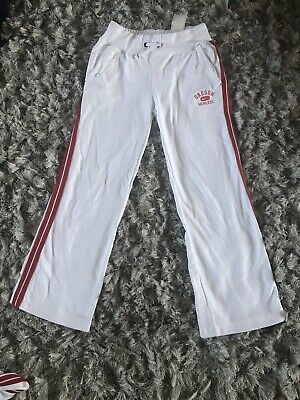 Nike Girls Jogging Bottoms White Size S Age 8-10 Yrs