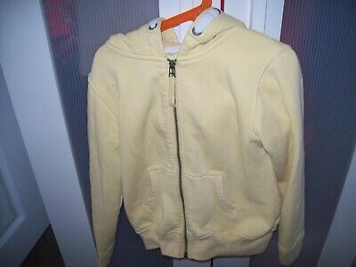 Girls NEXT yellow hoodie jacket age 9 years zip front slant pockets hooded