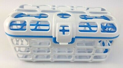 Munchkin Deluxe Dishwasher Basket For Small Pcs Nipples Spoons Straws Blue Clean