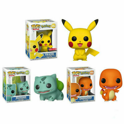 FUNKO POP Pokemon Pikachu Bulbasaur Action Figures Collection Kids Box Gift Toys