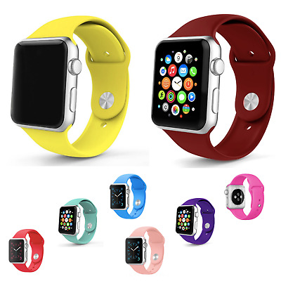 Correa Deportiva Silicona Suave 3 colores - Apple Watch Series 1/2/3/4/5 iWatch