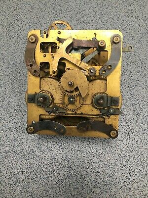 Striking Clock Movement Dial Spares Repairs Brass (A) 15cms 178,28