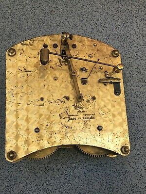 Striking Clock Movement Dial Spares Repairs Brass (C) Garrard England