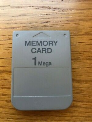 1MB Memory Card For Sony PS1 Playstation 1 PSX ONE - used