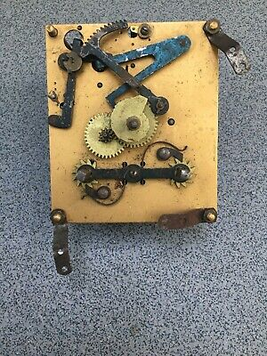 Striking Clock Movement Dial Spares Repairs Brass (G)Britannia England